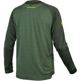 Endura SingleTrack Langarm Fleece Trikot Herren forest green